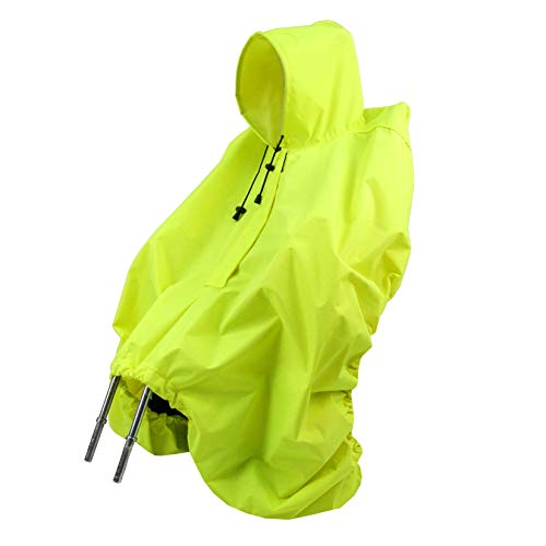 BAMBINIWELT Regencape REGENPONCHO Regenverdeck für Kinderfahrradsitz Fahrradsitz Römer Reflektorstreifen Regenschutz