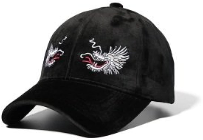 AAMOUSE Dad Hat Velvet Trucker Cap Women Corduroybaseball Caps for Men Hip Hop Hat Spring Fashion Dragon Embroidery Hats
