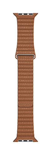 Apple Watch (44mm) Lederarmband mit Schlaufe, Sattelbraun - Large