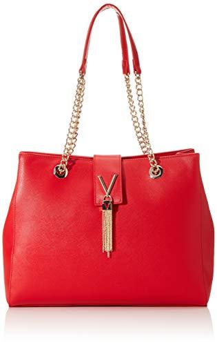 Mario Valentino Damen Divina Sa Schultertasche, Rot (Rosso), 14x28.5x36 cm
