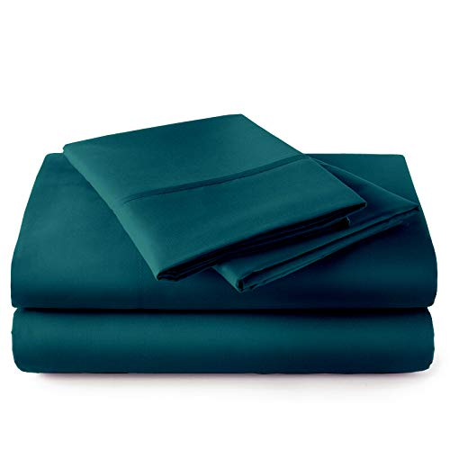"Extra-Deep-Pockets My-Giza-Dream-Sheets-&-Pillow-Set, 100% Giza-Egyptian-Dreams Sheet Long-Staple Cotton Sateen-Weave Soft Feel, 24"" Deep-Pocket My Giza Pillow & Sheets - [King, Teal Blue]"