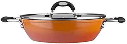 VITREX 71PATAFUE26 71PATAFUE26-Tartera Gourmet de Aluminio Full Induction Modelo Fuego de 26x5,5 cm, Metal, Naranja, 26 cm