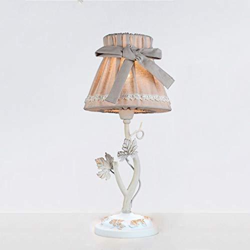 Lfixhssf Frans tafellamp pastorale donkergrijs ijzer prinses slaapkamer nachtkastje wasbaar scherm Nordic E27 letterlicht Lfixhssf