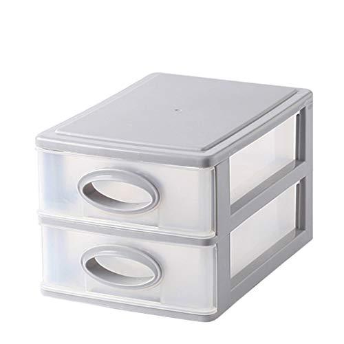 KKY-ENTER Type de tiroir multicouche Boîte de rangement pour cosmétiques En plastique Simple Rouge à lèvres Bijoux Produits de soin de la peau Boîte de stockage Affichage (taille : 21 * 15 * 13cm)
