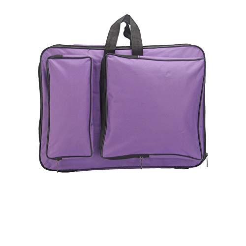 8k Art Portfolio Carry Bag Multipurpose Artist Portfolios Case Adjustable Shoulder Bag Tote Drawing Board Backpack with Pockets for Sketching Painting Art Supplies Storage Transport, 15 x 18.9 Inch