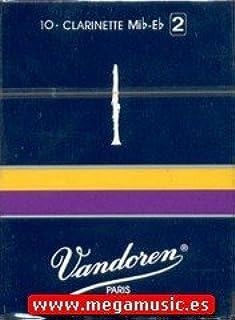 CAÑAS CLARINETE Eb (REQUINTO) - Vandoren (Tradicional) (Caja Azul) (Dureza 1 ½) (Caja de 10 Unidades: Amazon.es: Instrumentos musicales