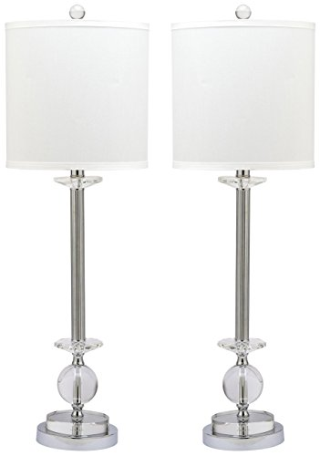 Safavieh Lighting Collection Marla Crystal Candlestick 31-inch Table Lamp (Set of 2)