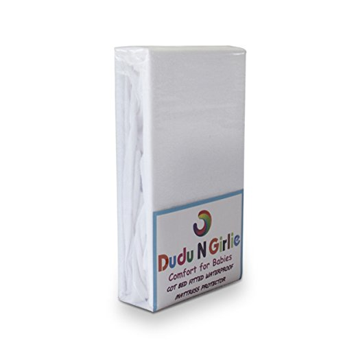 Dudu N Girlie - Protector de colchón impermeable para cuna de viaje, 100{ae4864f74564169c3c66702d3229a56c507674a341ab9cab075e60c31371faa3} algodón
