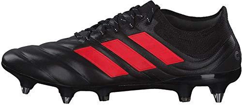 adidas Copa 19.1 SG, Zapatillas de Fútbol Hombre, Negro (Core Black/Hi/Res Red S18/Silver Met. Core Black/Hi/Res Red S18/Silver Met.), 40 EU