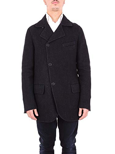 Giorgio Armani Luxury Fashion Herren ZSB27WZS909019 Blau Wolle Mantel | Jahreszeit Outlet