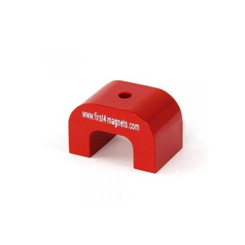 Magneet Experts F4M813-1 Grote Hoefijzermagneet, Rood