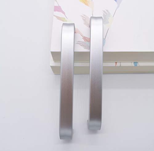 Qrity 10x Aluminiumlegierung Knöpfe Küche Schrank Schrank Schublade Türgriffe ziehen Griff (128MM) + Schrauben