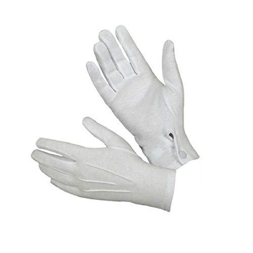 VENMO 1 Paar Weiß Formale Handschuhe Tuxedo Ehre Garde Parade Santa Männer Inspektion Damen Handschuh Touchscreen Fäustlinge Fahrradhandschuhe Warme Rutschfest Strick Handschuh Rutschfest (Weiß)