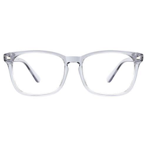 TIJN Unisex Stylish Square Non-Prescription Eyeglasses Glasses Clear Lens Women Men Eyewear