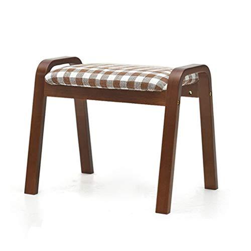 Minmin Hocker van hout, creatief, woonkamer, volwassenen, kruk, banken, schoenen wisselen, kruk, kinderen, met een afneembare dekendoek, 37,5 x 36 cm, kruk voor de badkamer