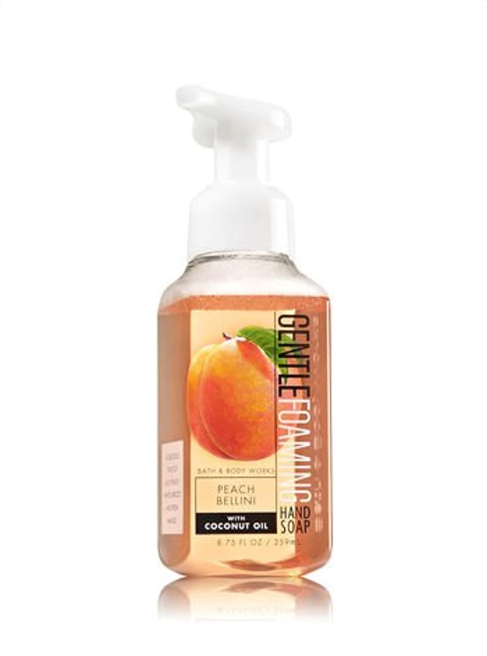 ヒット湿原違うバス&ボディワークス ピーチベリーニ ジェントル フォーミング ハンドソープ Peach Bellini Gentle Foaming Hand Soap [並行輸入品]