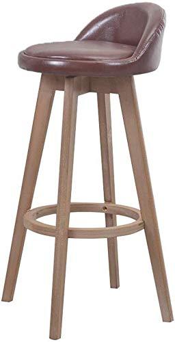 LJBXDCZ NJ barkruk, massief hout, bureaustoel, eenvoudige computerstoel, zachte stoel, hoge stoel voor Kithchen barstool kruk, kruk, kruk, kruk, hoogte 3,12 cm