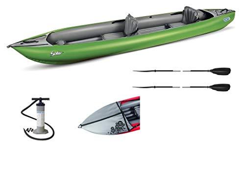 Gumotex Kayak - Cayak de manguera solar para 2 personas, incluye manta contra salpicaduras, bomba y 2 remos