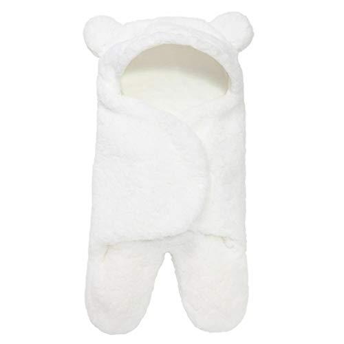 YXDS Saco de Dormir para bebé, Forro Polar Ultra Suave y Esponjoso, Manta de recepción para recién Nacidos, Ropa para niños y niñas, Envoltura para Dormir, Envoltura para bebés