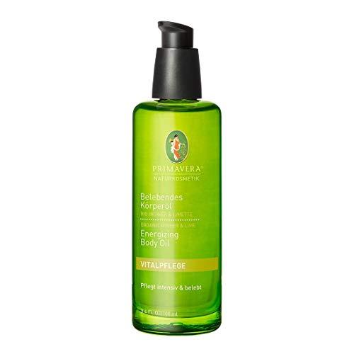 PRIMAVERA Belebendes Körperöl Ingwer Limette 100 ml - Naturkosmetik - vitalisierend, Schutz vor Feuchtigkeitsverlust - vegan