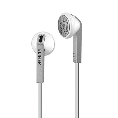 Edifier H190 Premium Earbuds - Classic Style Earbud Headphones - White Earphones with Non-Tangle Wire