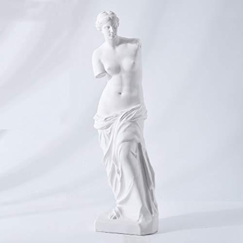 Aphrodite Venus Statuen, Griechische Göttin Aphrodite Figur Milo Statue Liebe Schönheit Fruchtbarkeit Skulptur Premium Harz Gegossen Home Office Dekorationen-f 46x13cm(18x5inch)