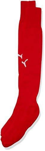 PUMA Erwachsene Team II Socks, red-White, 1
