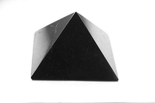 1.96 inches Non-polished altamente protettiva Healing Crystal Pyramid 5 cm Karelian Heritage Genuine Shungite piramide