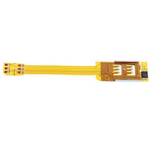 Gazechimp Soporte De Adaptador De Cable Flexible Convertidor De Extensión Externa De Tarjeta SIM Doble para iPhone 6 5s 5 4s 4