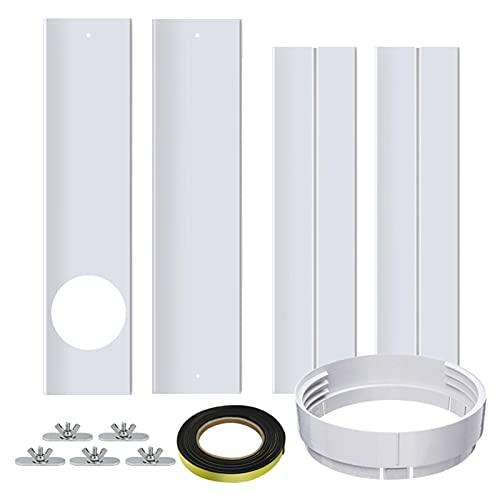 Set di guarnizioni per finestre, 67 – 220 cm, regolabile, per finestre, con connettore per tubi da 150 cm, per impianto di climatizzazione mobile e asciugatore, non necessita di fori