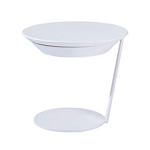 HANSHAN Küchentische Plattenspieler Beistelltisch Sofa Beistelltisch Nachttisch, geeignet for Büro oder Wohnzimmer sind Gute Wahl.Farbe (4) Tablet-Halter (Color : White)