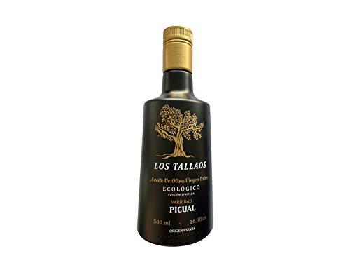 Aceite de oliva virgen extra AOVE ECOLOGICO. Variedad Aceite PICUAL. Envase 250 ml. Olivares cultivados en Toledo. Olivos ecológicos certifcado sin residuos quúimico.