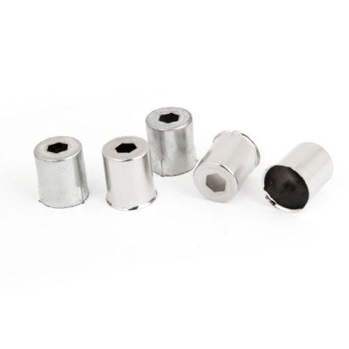 Cubierta de acero del horno microondas hexagonal agujero magnetrón 5 piezas de plata del tono