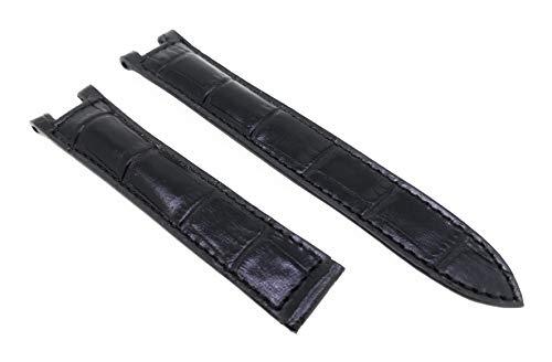 Cartier - Correa para reloj Pasha (cierre plegable, 18 mm), color negro