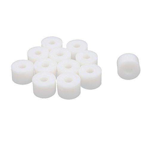 sourcingmap® Ronda de la columna del separador de plástico Soporte arandela espaciadora blanca 15x10mm 12pcs