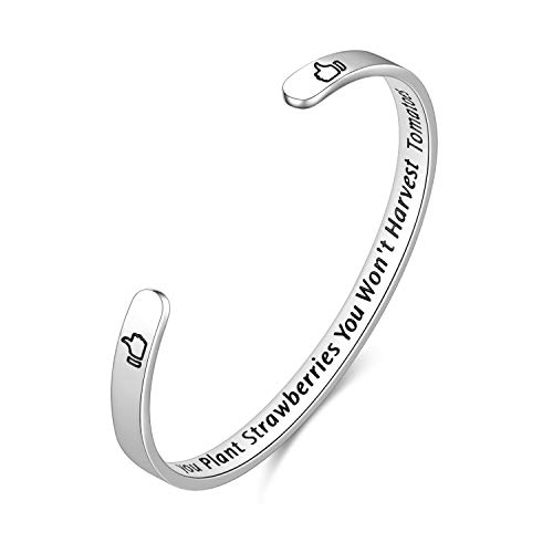 Fodizi Cuff Bracelet Bangle Promise Inspirational Bracelet Top Quality Personalized Gift for Mom Women Girls Boys Men Engraved Mantra with Hidden Message - Multiple Series
