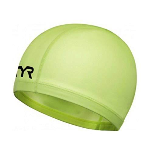 TYR WARMWEAR Bonnet de Natation Eau Libre Hi-Vis, Adulte Unisexe, FL Yellow, M