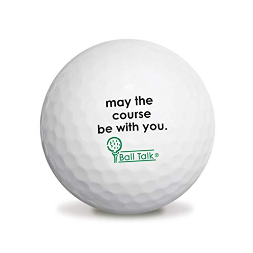 sports fan golf gift sets BallTalk Golf Balls - (May The Course be with You - 'Good Karma' Series) 3-Ball Box
