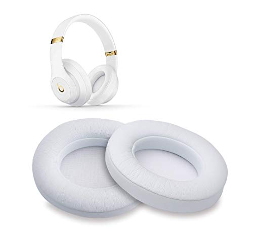 White Replacement Earpads, AGPtEK 2 Pieces Foam Ear Pad Cushion Compatible with Beats Studio 2.0 Wired/Wireless B0500 B0501 Headphone & Beats Studio 3.0