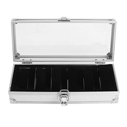 Best Design 6 Grid Insert Slots Aluminium Watch Box Jewelry Bracelet Display Storage, Watch Storage Case - Steel Storage Containers In Crafts, Jewlery Organizer, Watch Box Glass, Metal Cigar Ashtray