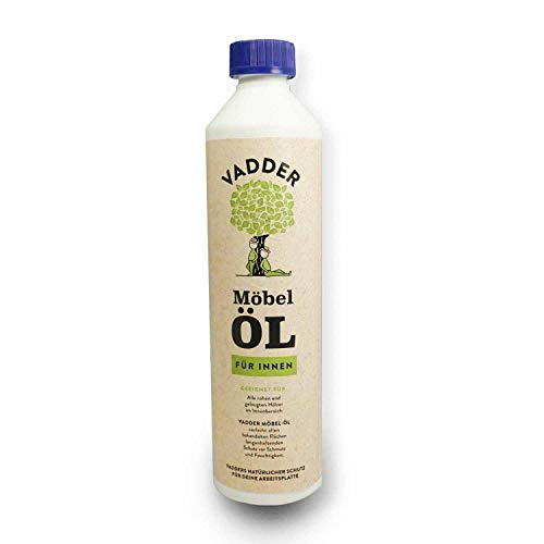 Möbel-Öl von Vadder für unbehandelte, geölte und gelaugte Hölzer im Innenbereich | Holz-Öl