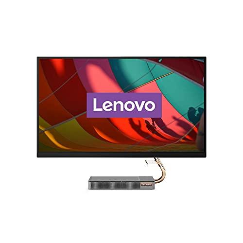Lenovo IdeaCentre AIO 5i 68,58 cm (27 pollici, 2560 x 1440, WQHD, antiriflesso) PC desktop tutto in uno (Intel Core i5-10400T, 8 GB RAM, 512 GB SSD, NVIDIA GeForce GTX 1650, Windows 10 Home) grigio