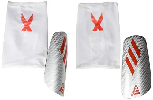 adidas Adult X Pro Shin Guards S Silver Metallic/Hi-Res Red/Black