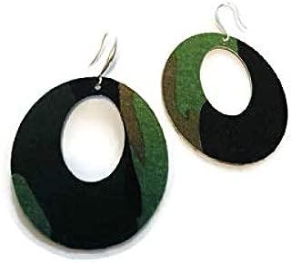 Camo Fabric Earrings
