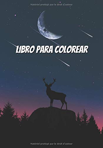 Libro para colorear: Cuaderno para niños - niñas y niños - Renos – Animales