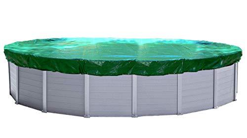 QUICK STAR Cubierta de piscina de invierno oval 180g / m² para piscina 650x420cm Dimensiones de lona 730x500cm Verde