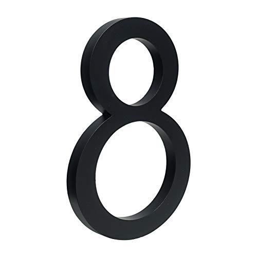 LQHZ Número de casa 15 cm Big Big Black Casa Número de...