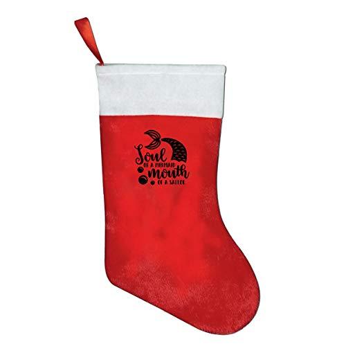 SLDIQIWL Weihnachtsstrümpfe, Seele der Meerjungfrau, Mund des Matrosens, Weihnachtsmann-Socken für Weihnachten, Kostüm-Dekoration