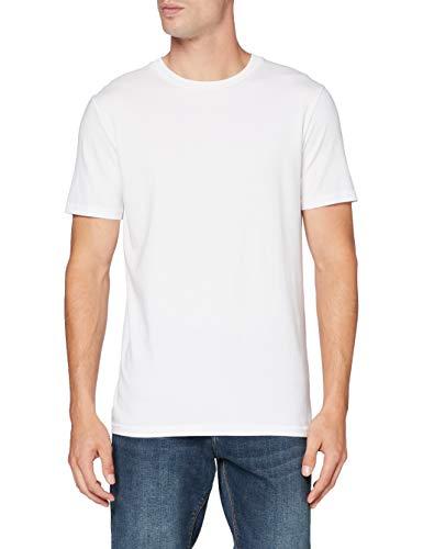 Scotch & Soda Mens Short sleeve organic tee T-Shirt, White 0006, M