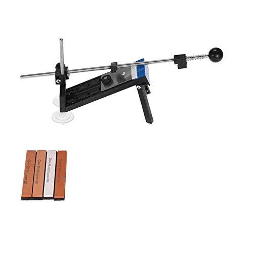Guía ángulo afilador de cuchillos, de ángulo fijo afilador de cuchillos de cocina Kits Sistema afilador profesional con 4 piezas St Afilado